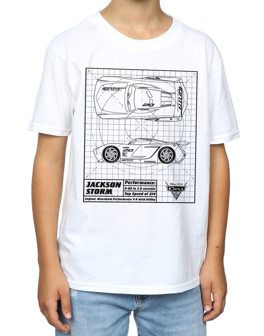 disney boys cars jackson storm blueprint tshirt  ebay