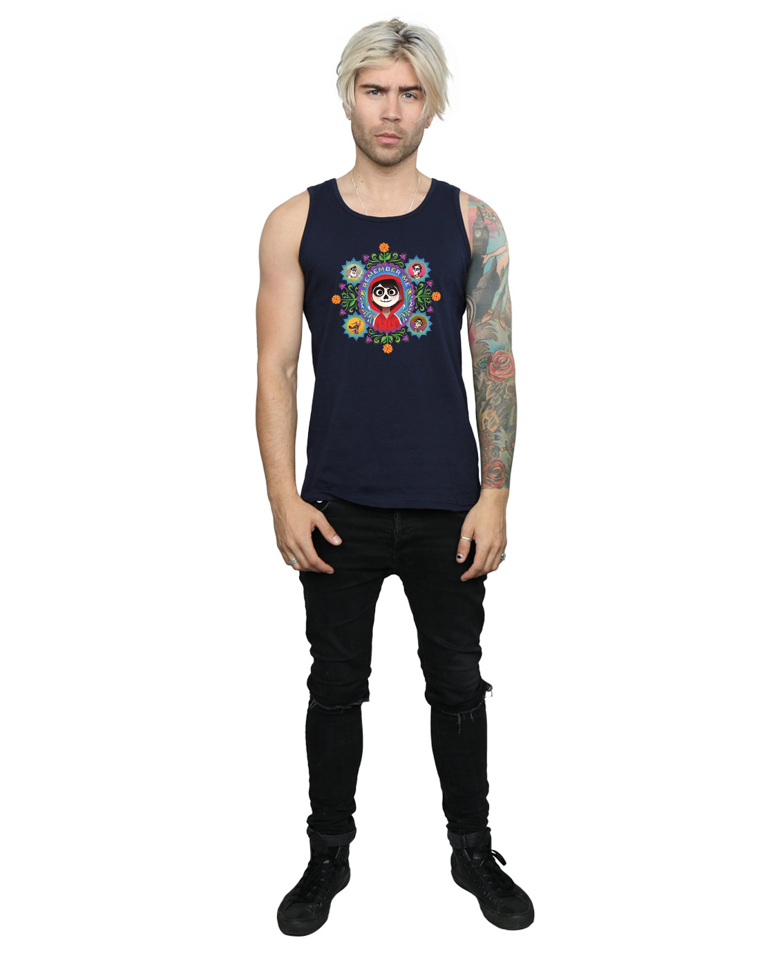 Disney-Men-039-s-Coco-Remember-Me-Tank-Top thumbnail 15