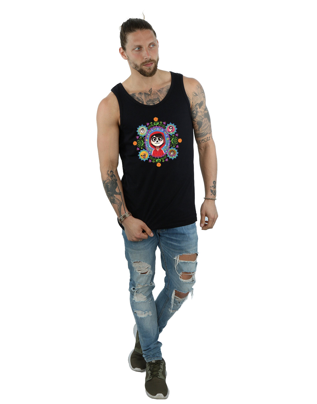 Disney-Men-039-s-Coco-Remember-Me-Tank-Top thumbnail 10