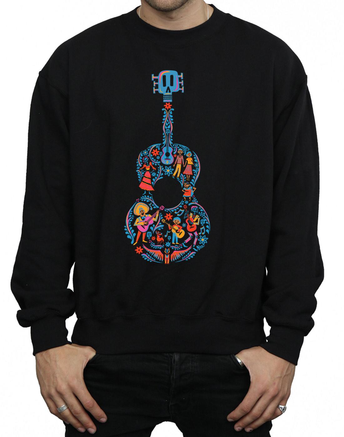 Disney-hombre-Coco-Guitar-Pattern-Camisa-De-Entrenamiento