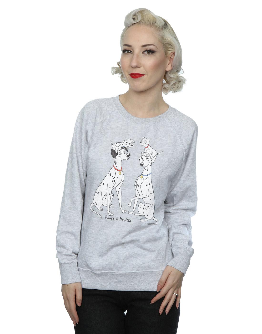 Disney-mujer-Classic-Pongo-and-Perdita-Camisa-de-entrenamiento