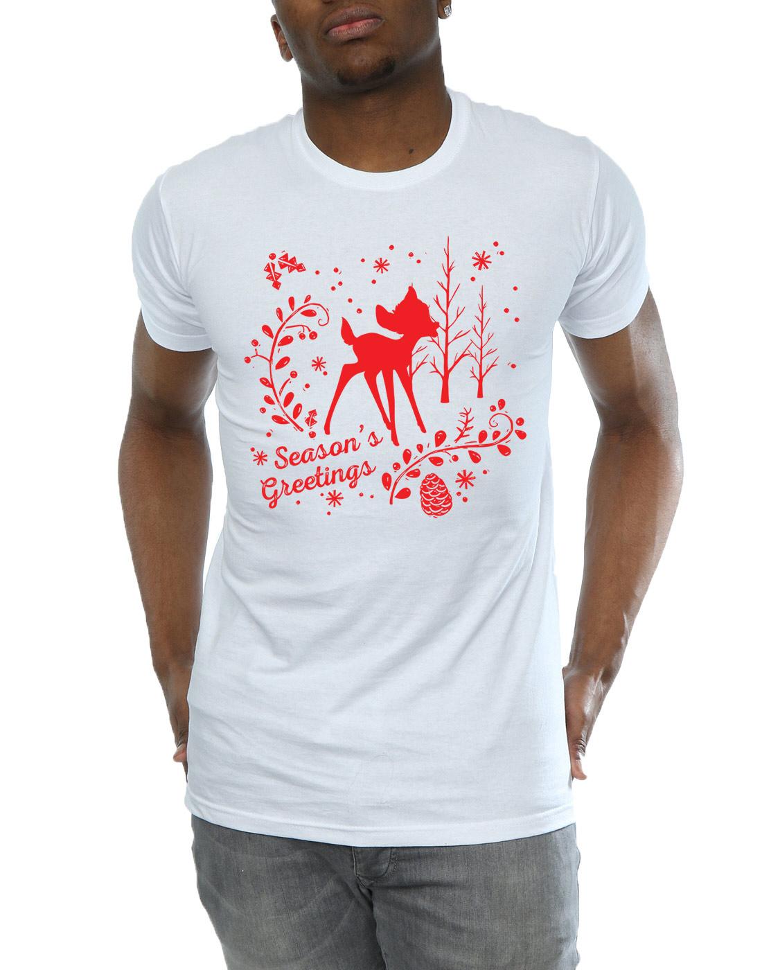 Disney-Homme-Bambi-Christmas-Greetings-T-Shirt