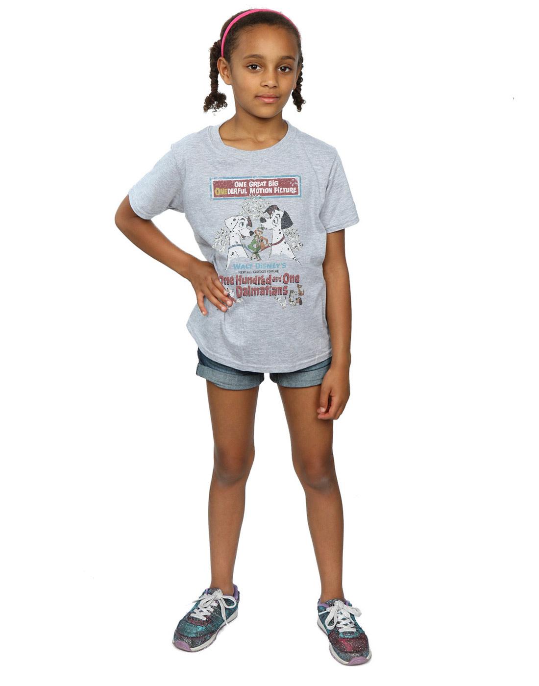 Disney-Maedchen-101-Dalmatians-Retro-Poster-T-Shirt