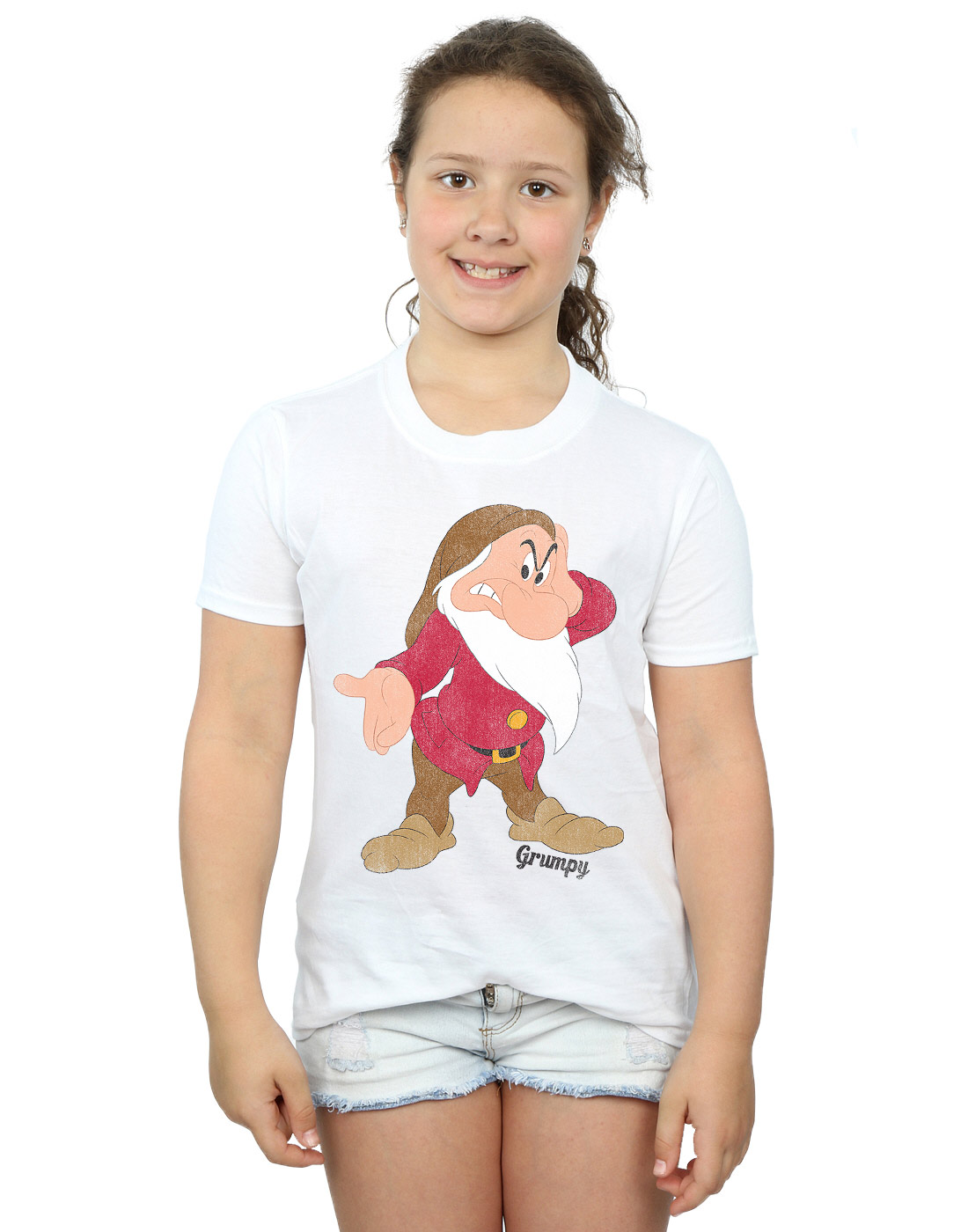 Disney-Maedchen-Snow-White-and-the-Seven-Dwarves-Classic-Grumpy-T-Shirt