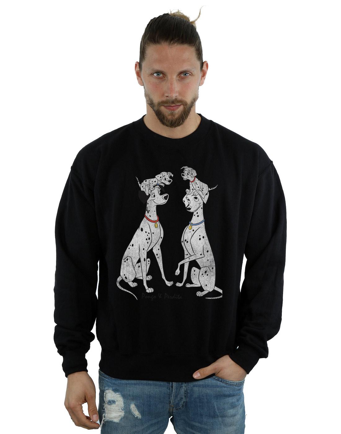 Disney hombre 101 Dalmatians Classic Pongo and Perdita Camiseta PJvXOje2