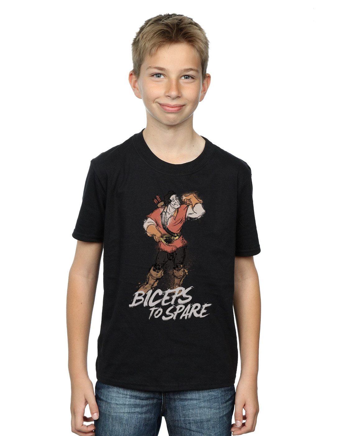 Disney Beauty And The Beast Cartoon Pixar Unisex Kids White Birthday T Shirt 246