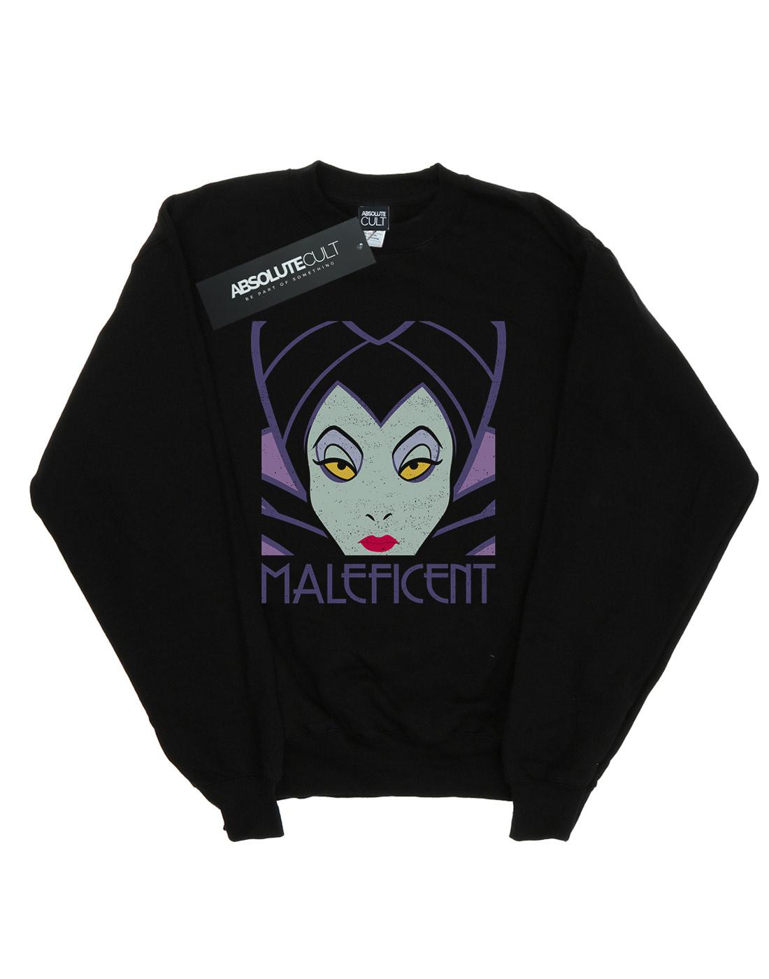 Donna Felpa Disney Cropped Maleficent Head 45jL3AcRqS