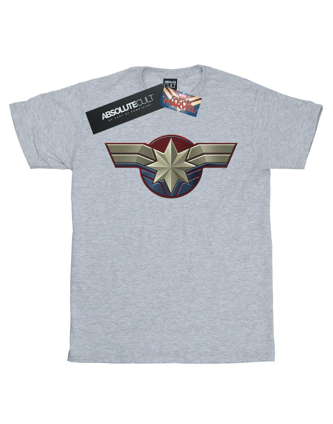 Marvel Damen Logo Wash Care Boyfriend Fit T-Shirt