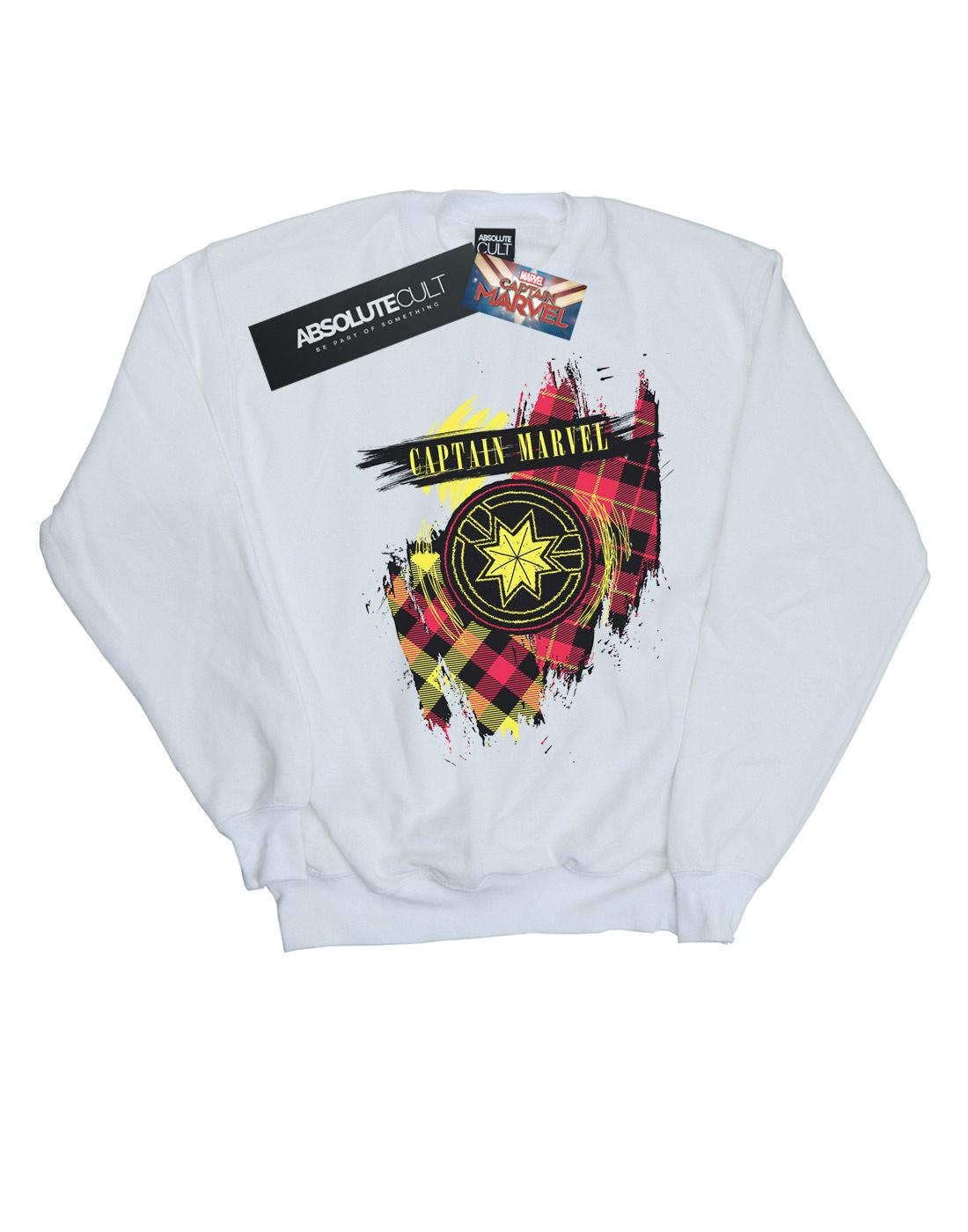 Marvel Damen Captain Marvel Tartan Patch Sweatshirt | Tragen-wider  | | | Haben Wir Lob Von Kunden Gewonnen  | Spezielle Funktion  | Verkauf Online-Shop  | Grüne, neue Technologie  633576