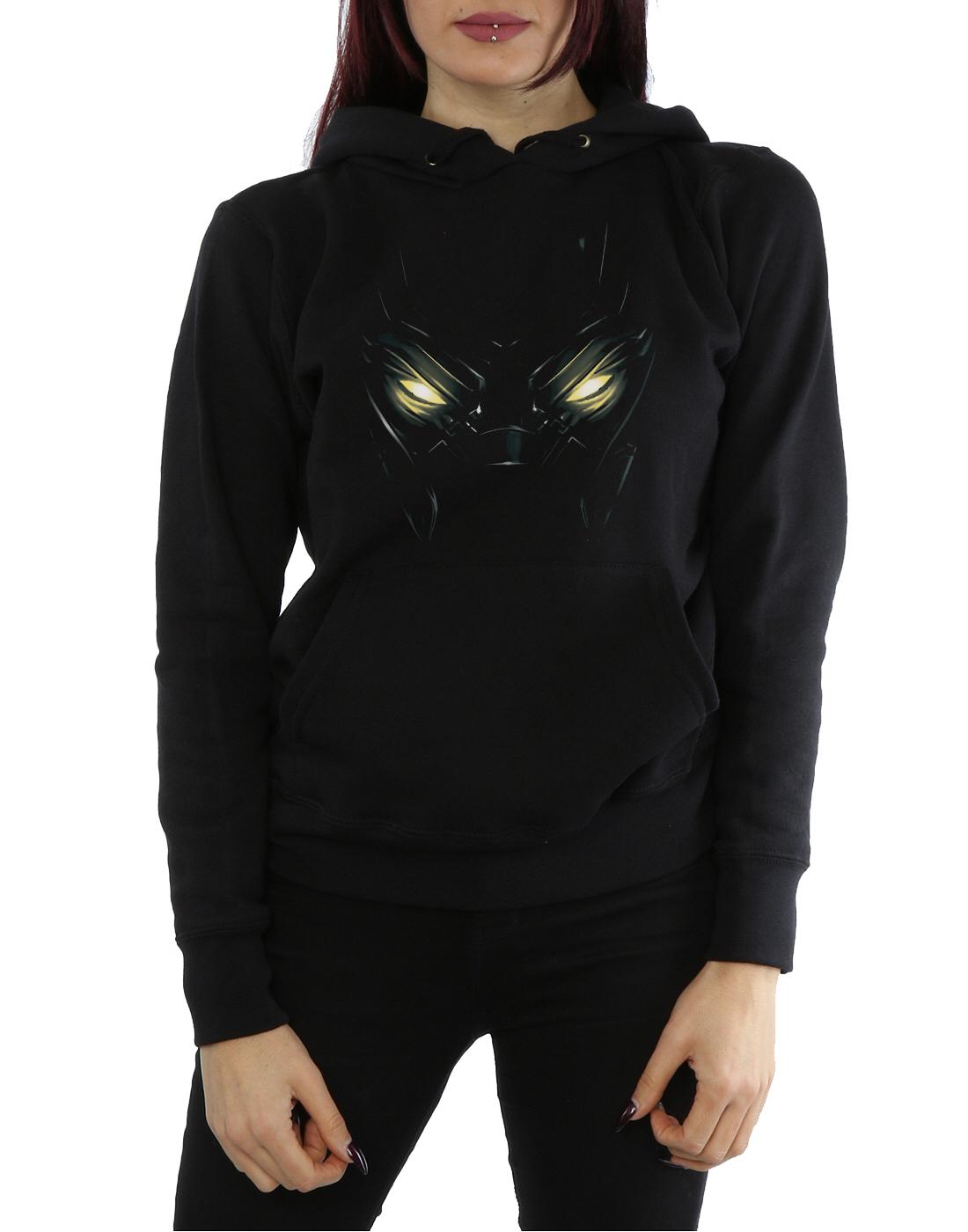 Marvel Donna nero Panther Eyes Felpa Felpa Felpa con cappuccio 1dd354