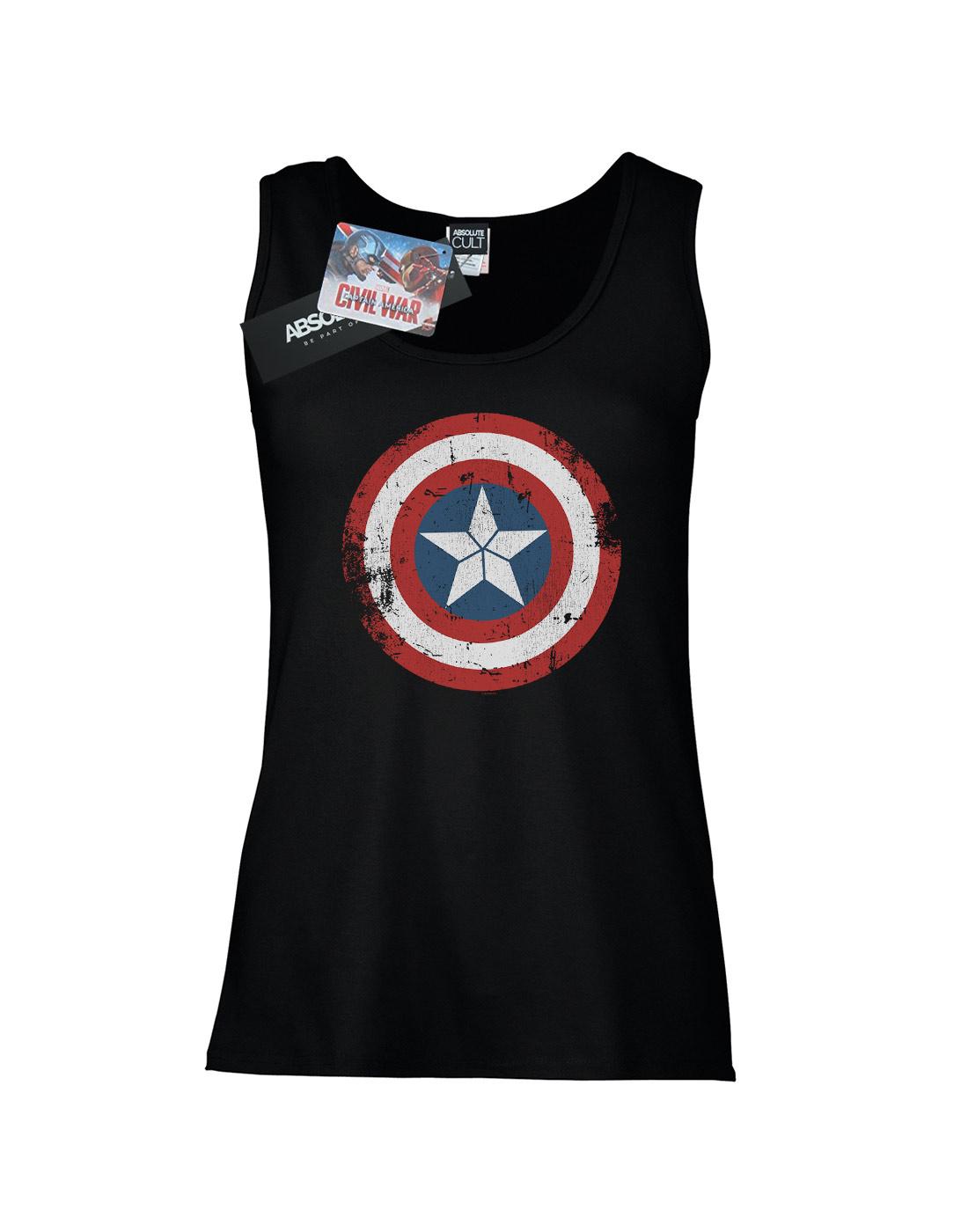 180c8ef2b0585 Marvel Women s Captain America Civil War Distressed Shield Tank Top ...