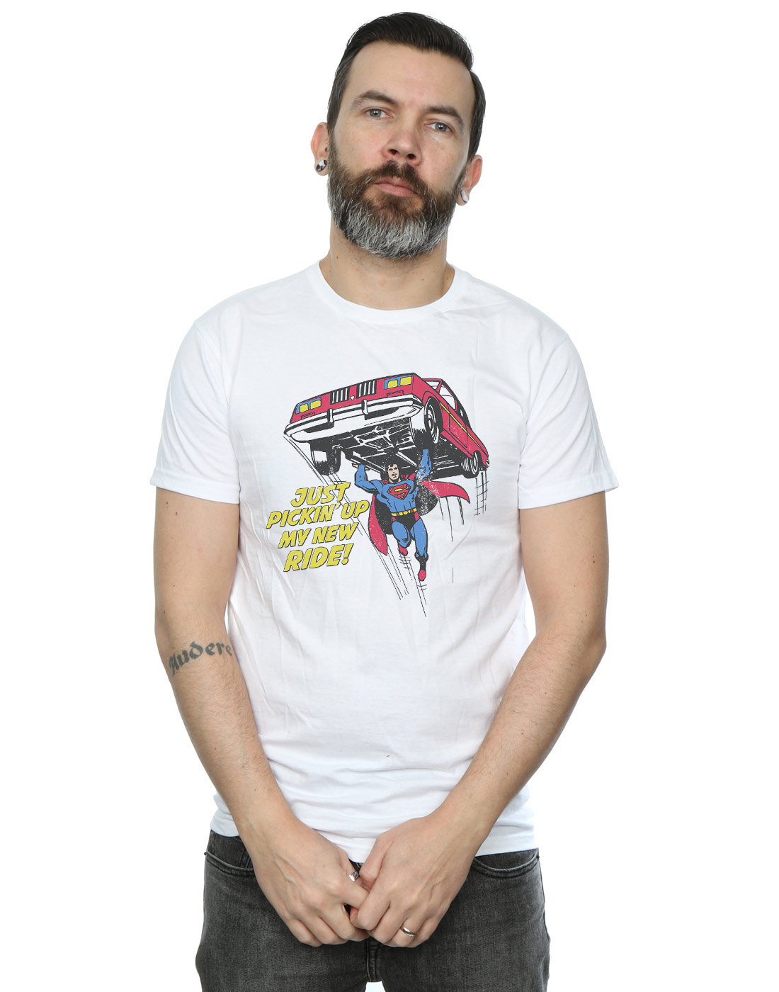 DC-Comics-Herren-Superman-New-Ride-T-Shirt