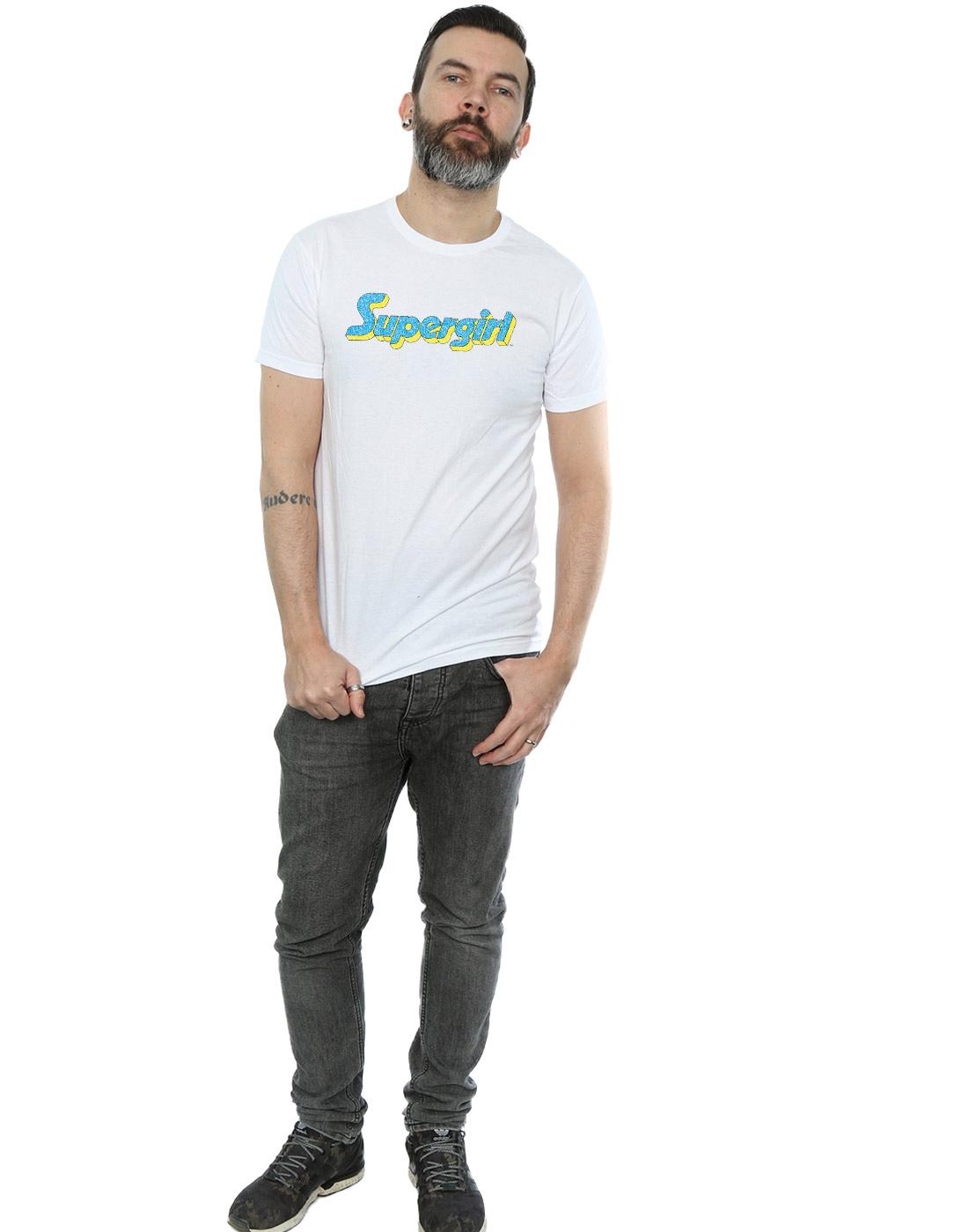 DC-Comics-Herren-Supergirl-Crackle-Logo-T-Shirt