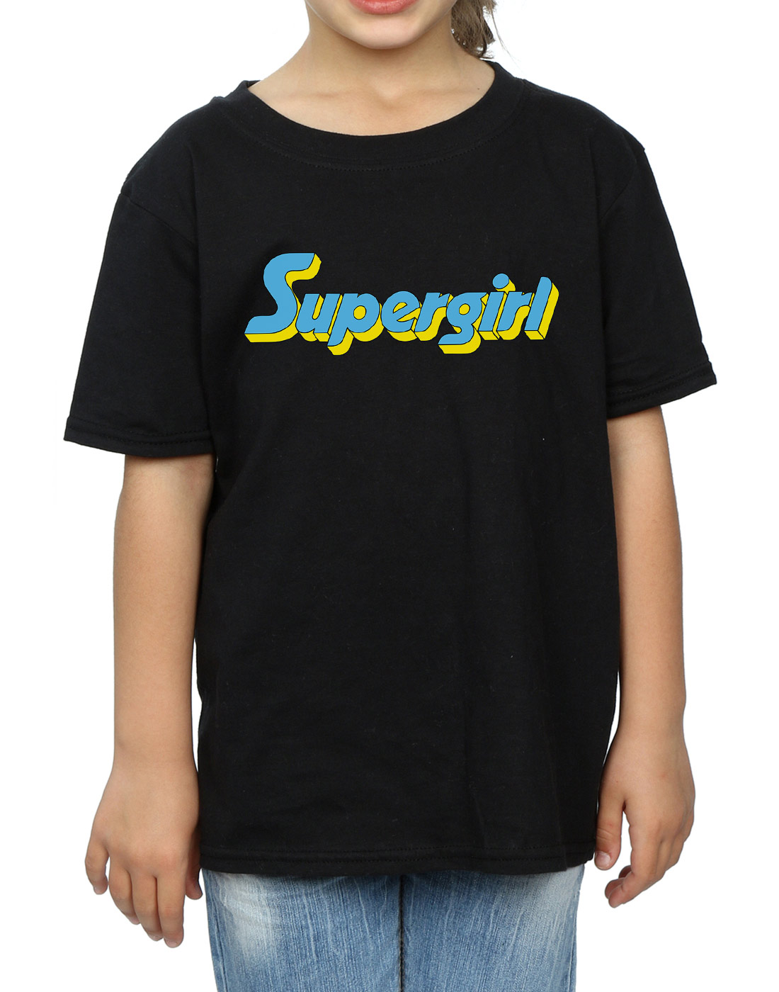 DC-Comics-Maedchen-Supergirl-Text-Logo-T-Shirt