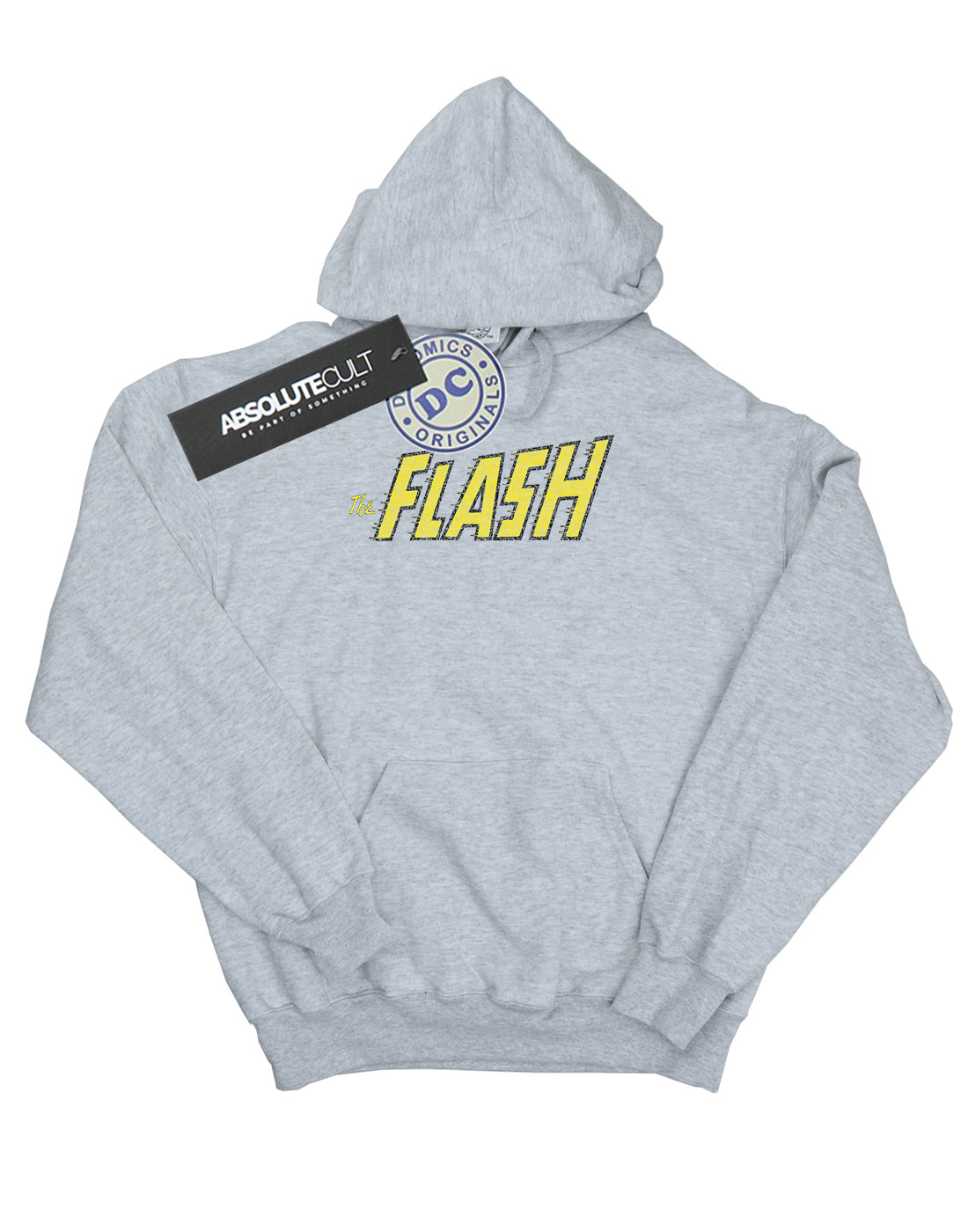 DC-Comics-Women-039-s-Flash-Crackle-Logo-Hoodie miniature 12