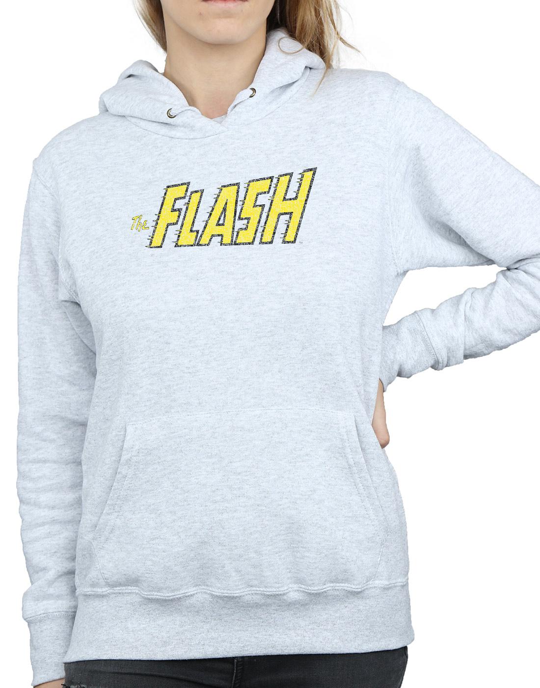 DC-Comics-Women-039-s-Flash-Crackle-Logo-Hoodie miniature 14