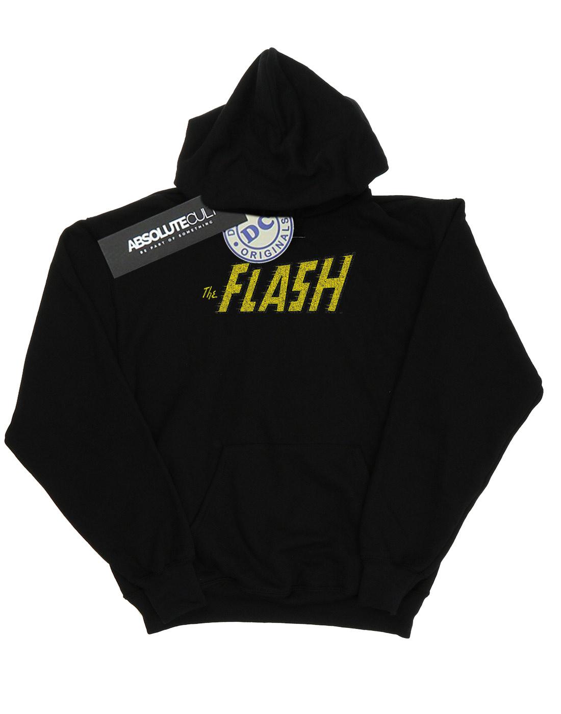 DC-Comics-Women-039-s-Flash-Crackle-Logo-Hoodie miniature 7