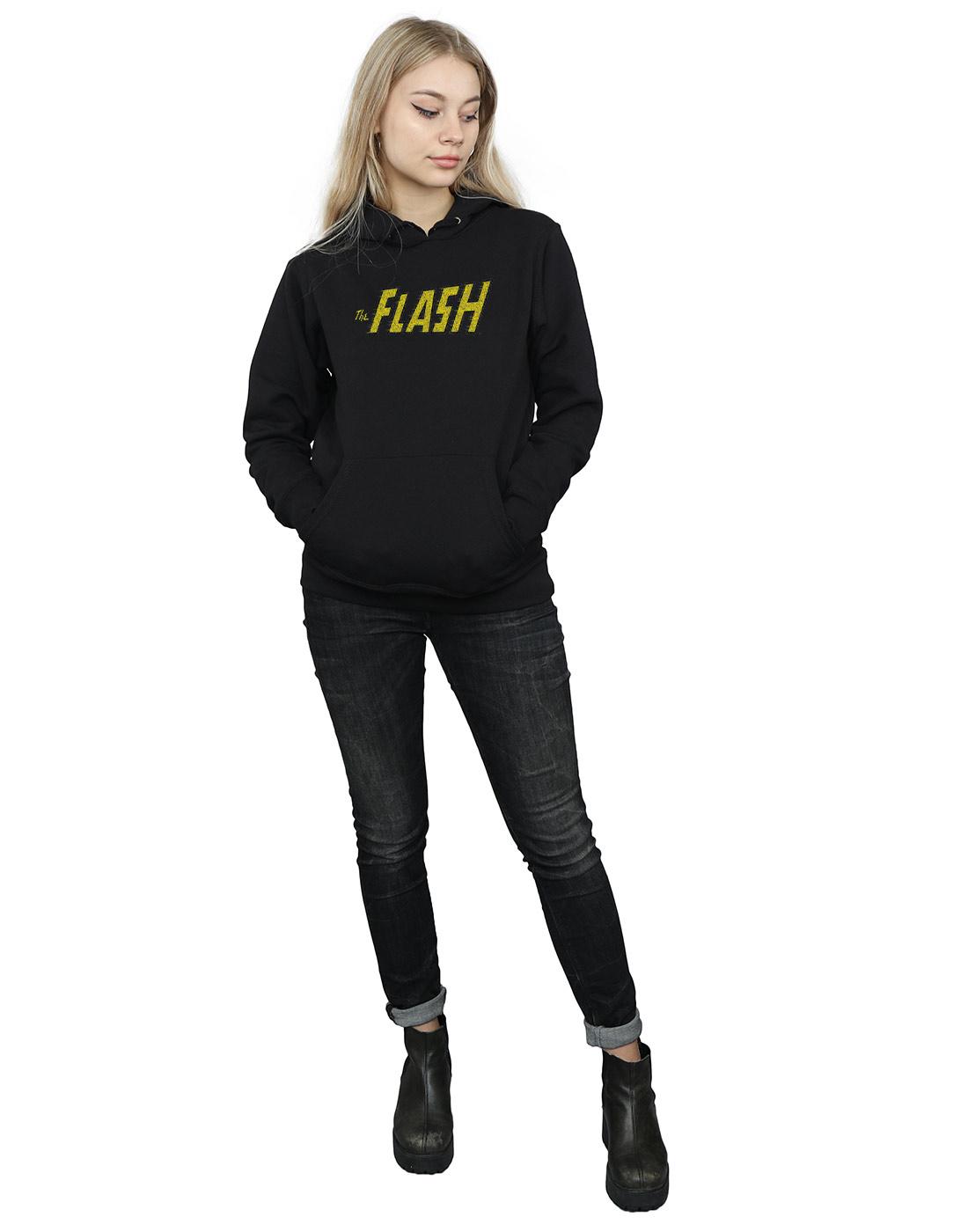 DC-Comics-Women-039-s-Flash-Crackle-Logo-Hoodie miniature 10