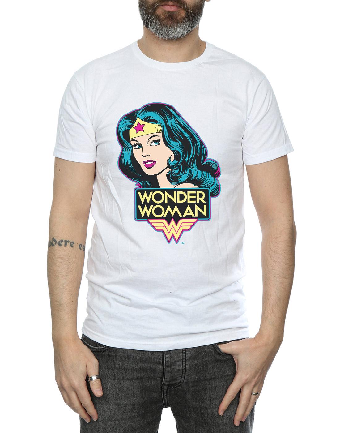 DC-Comics-Herren-Wonder-Woman-Head-T-Shirt