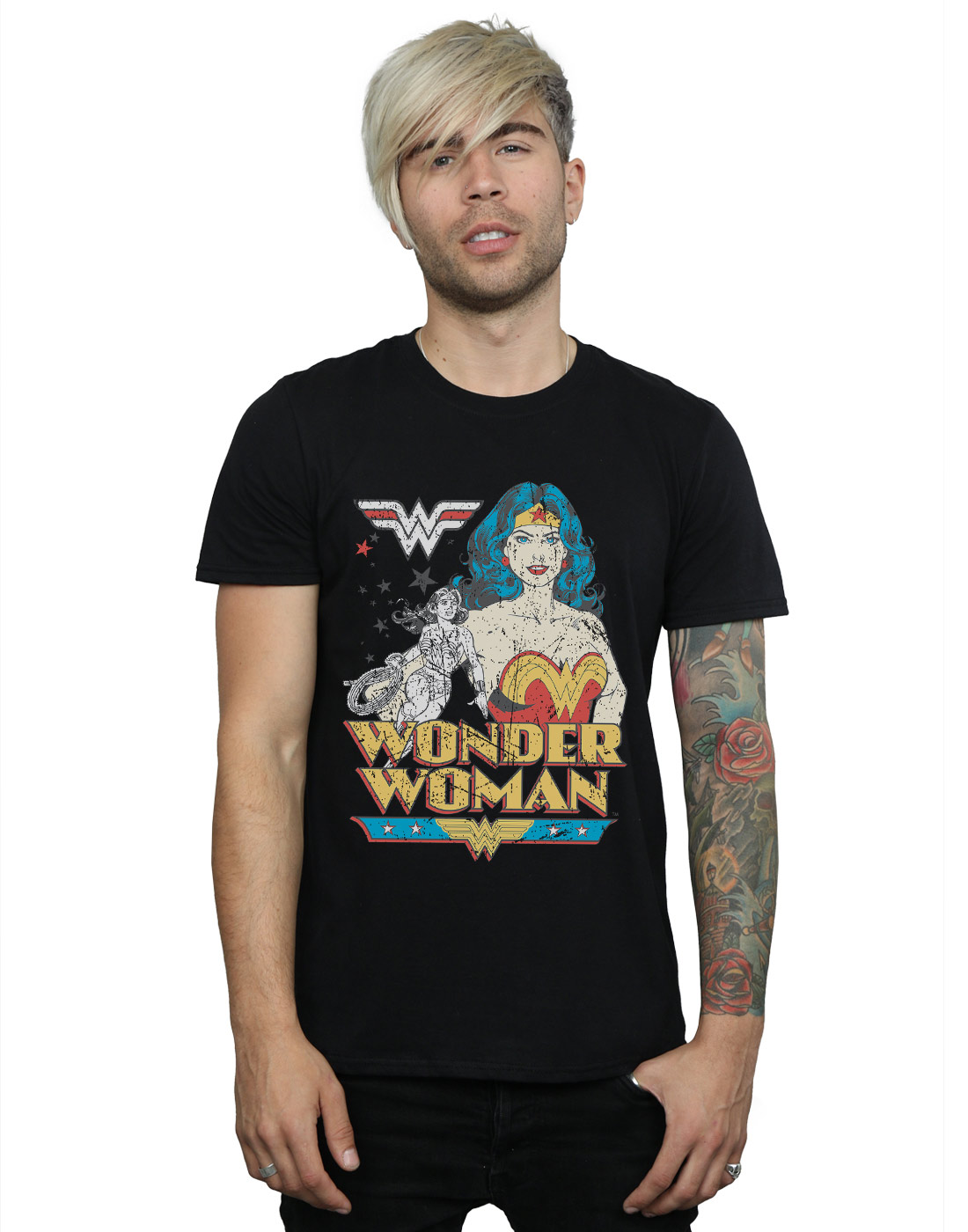DC-Comics-Herren-Wonder-Woman-Posing-T-Shirt