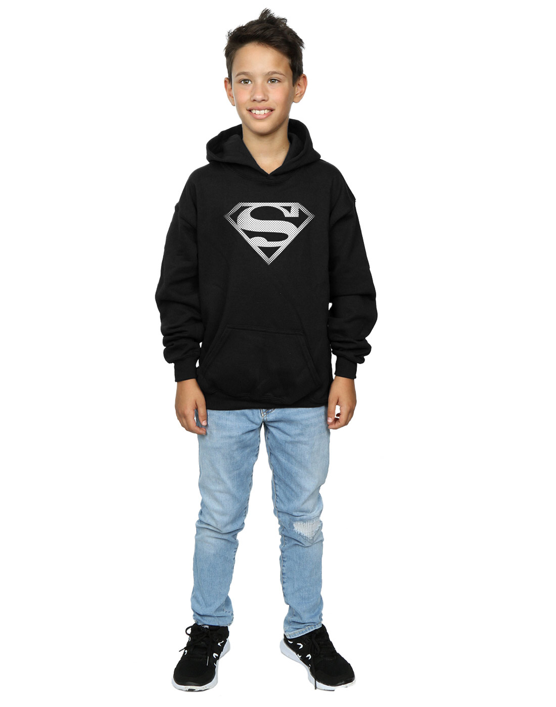 DC-Comics-Jungen-Superman-Spot-Logo-Kapuzenpullover