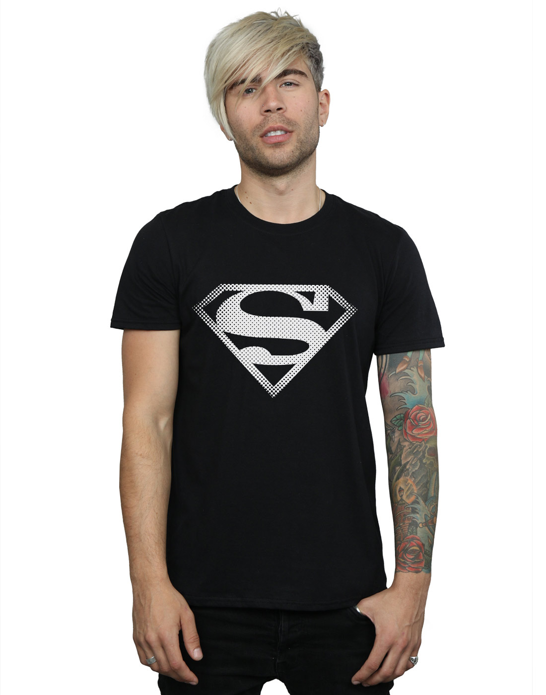 DC-Comics-Herren-Superman-Spot-Logo-T-Shirt