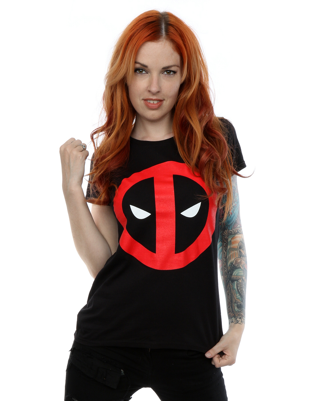 Marvel-Femme-Deadpool-Clean-Logo-T-Shirt