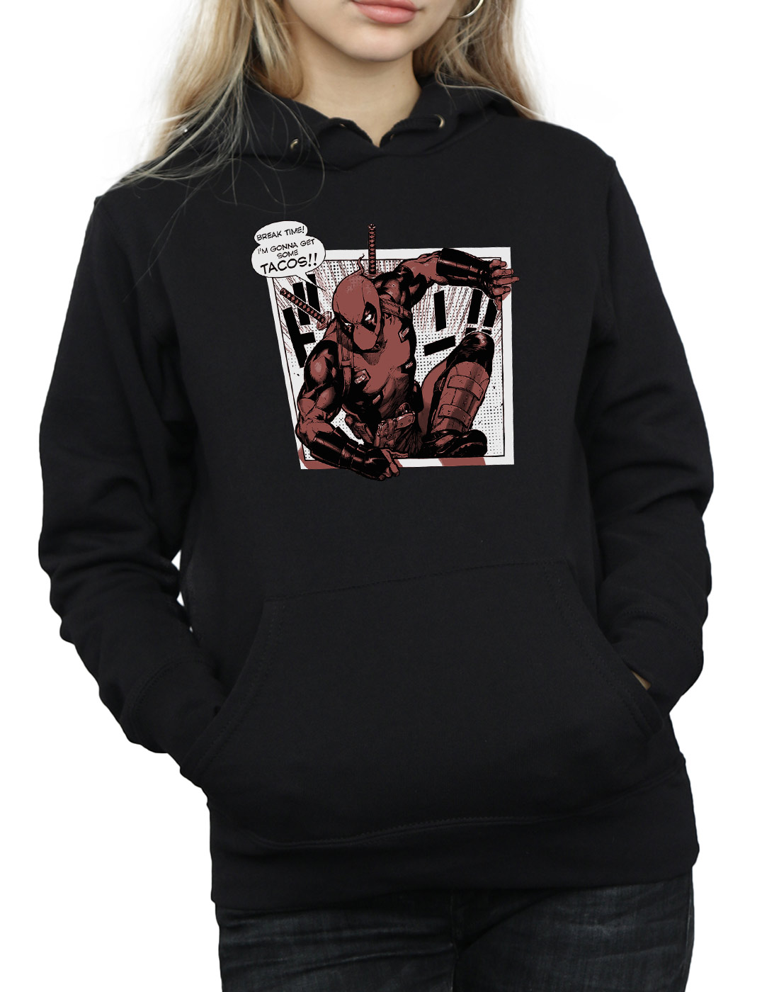 Tacos Breaktime Felpa Deadpool Donna Marvel Con Cappuccio xTqEtn8