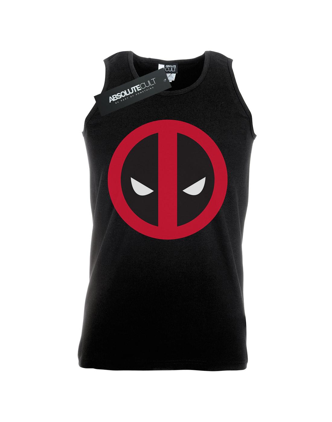 Marvel-Men-039-s-Deadpool-Large-Clean-Logo-Tank-Top thumbnail 7
