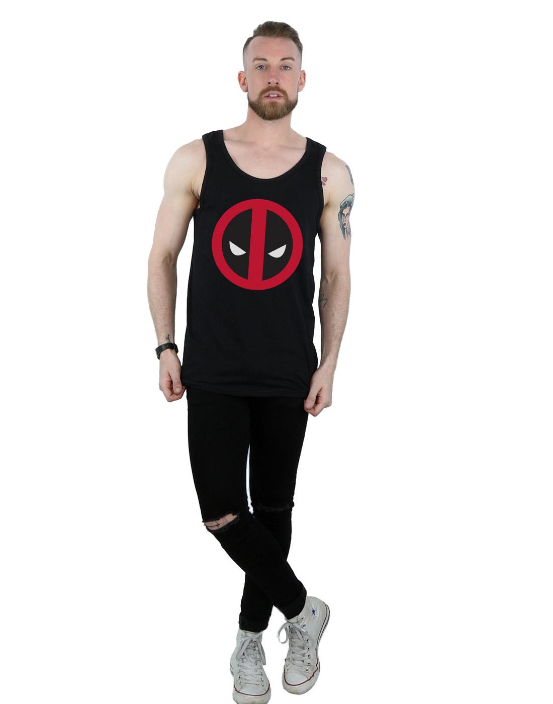 Marvel-Men-039-s-Deadpool-Large-Clean-Logo-Tank-Top thumbnail 10