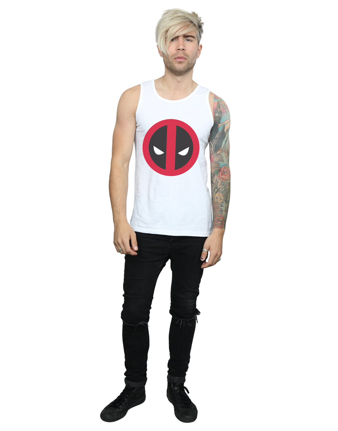 Marvel-Men-039-s-Deadpool-Large-Clean-Logo-Tank-Top thumbnail 20