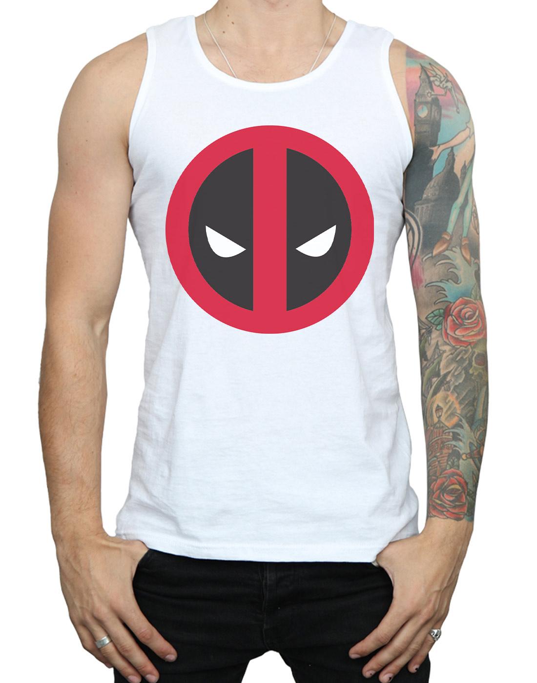 Marvel-Men-039-s-Deadpool-Large-Clean-Logo-Tank-Top thumbnail 19