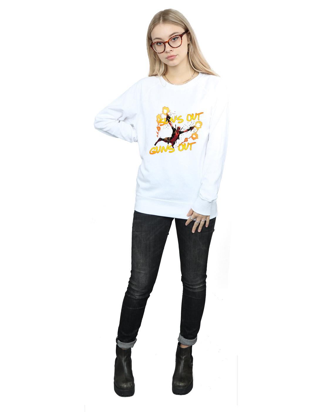 Marvel Damen Deadpool Sun's Out Guns Out Out Out Sweatshirt   Verschiedene Arten Und Die Styles    Hochwertige Produkte    Neue Sorten werden eingeführt    Zürich    Neue Produkte im Jahr 2019  141006