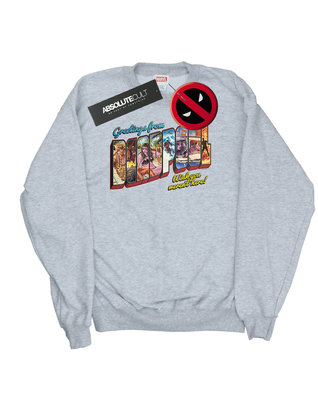 Marvel Marvel Marvel Damen Deadpool Greetings Sweatshirt 5df986