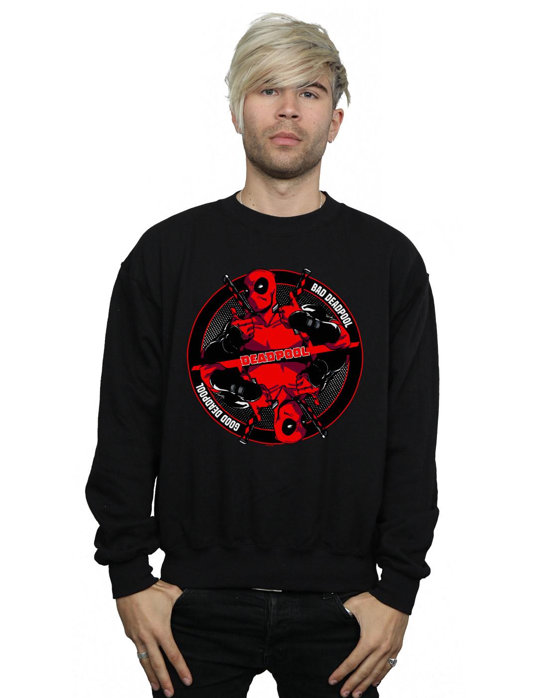 Marvel Herren Deadpool Good Bad Sweatshirt | Vorzügliche Verarbeitung