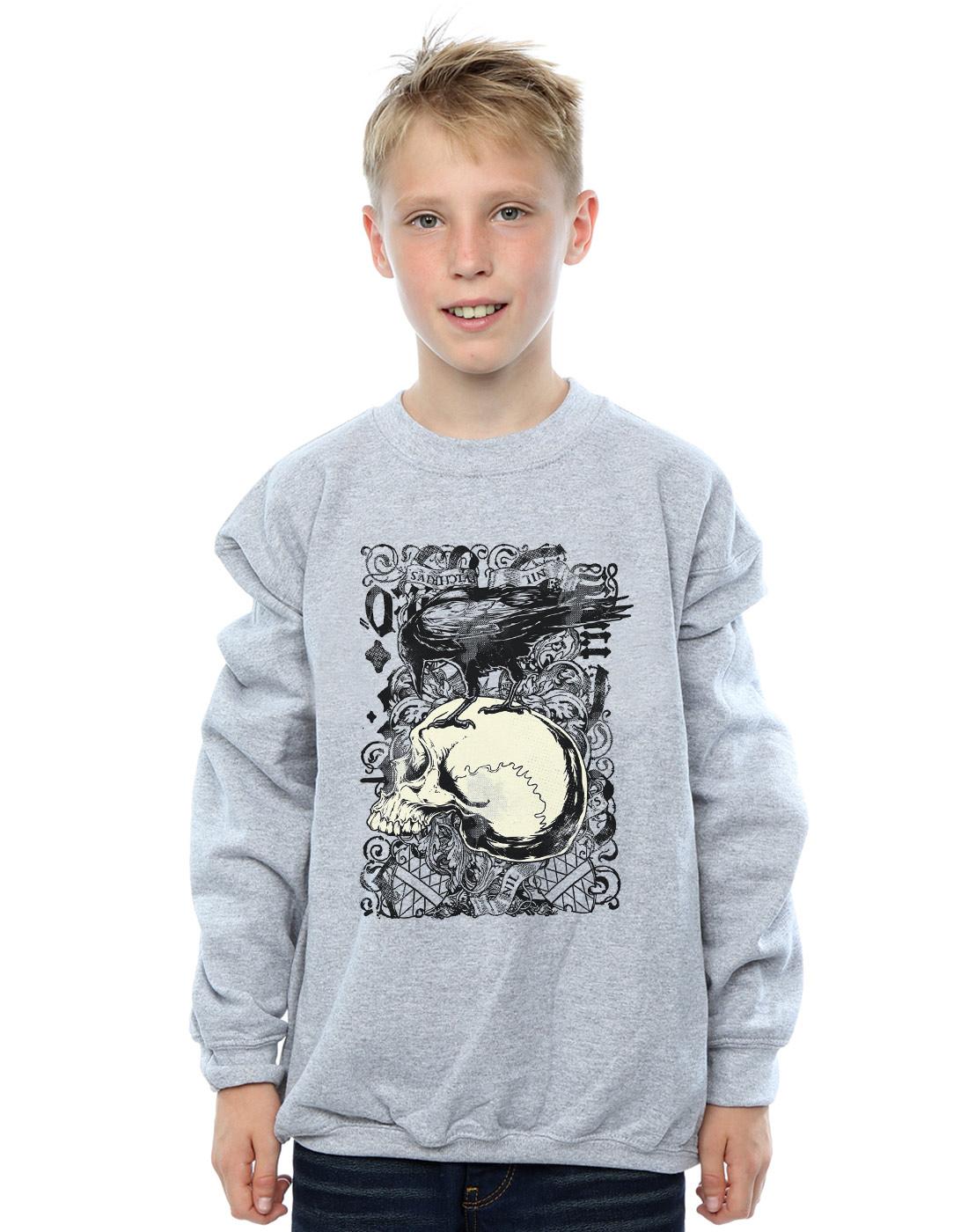 Absolute Cult Drewbacca Womens Crow Skull Sweatshirt