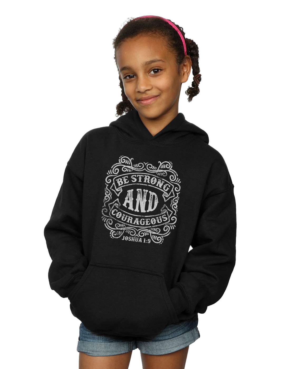 ABSOLUTECULT Drewbacca Girls Be Strong and Wait for The Lord Sweatshirt