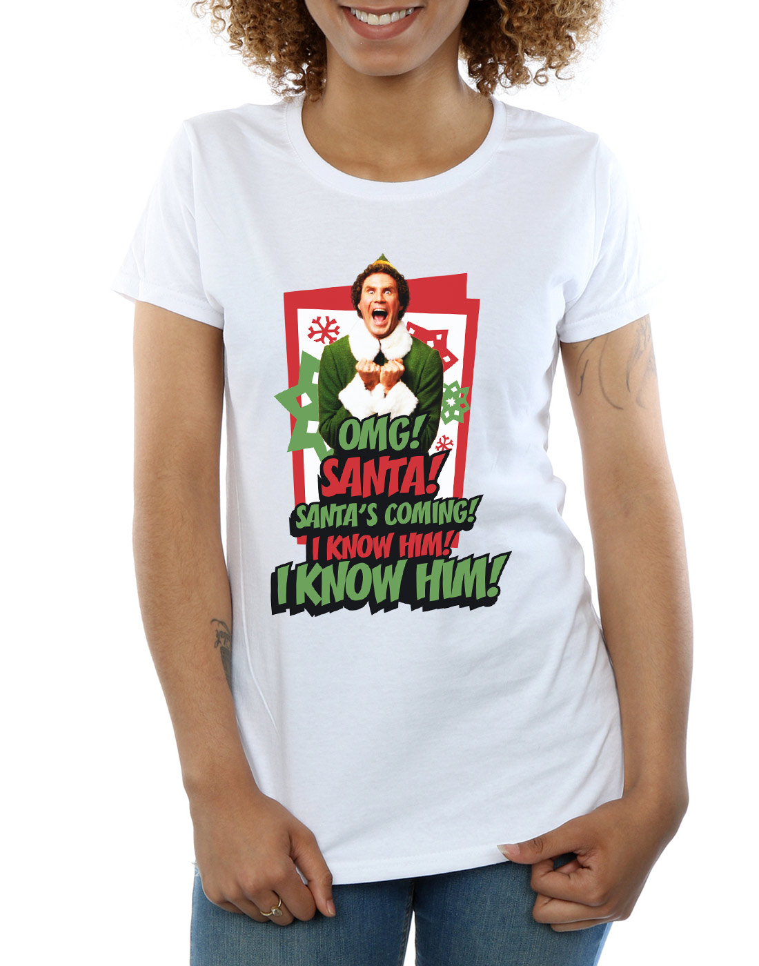Elf-Femme-Omg-Santa-T-Shirt miniature 24