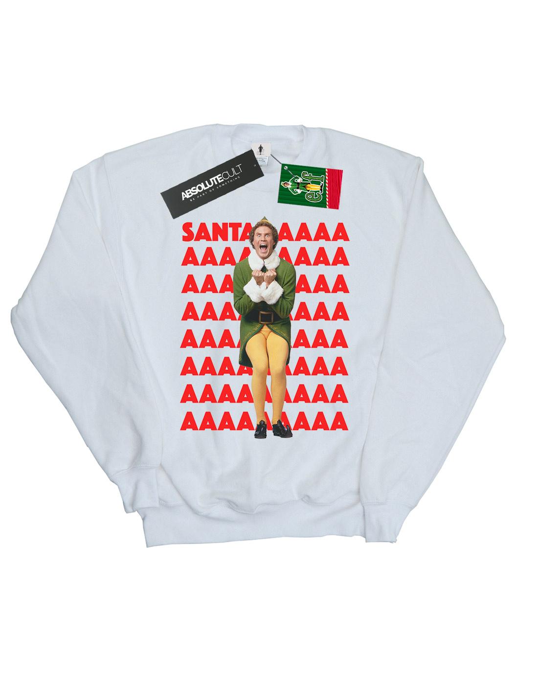 Elf-mujer-Buddy-Santa-Scream-Camisa-De-Entrenamiento