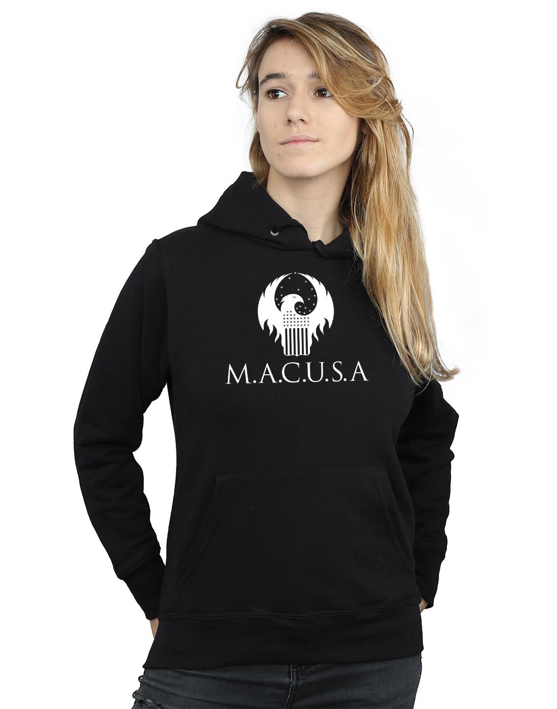 Fantastic Beasts Donna MACUSA Logo Felpa Con Cappuccio