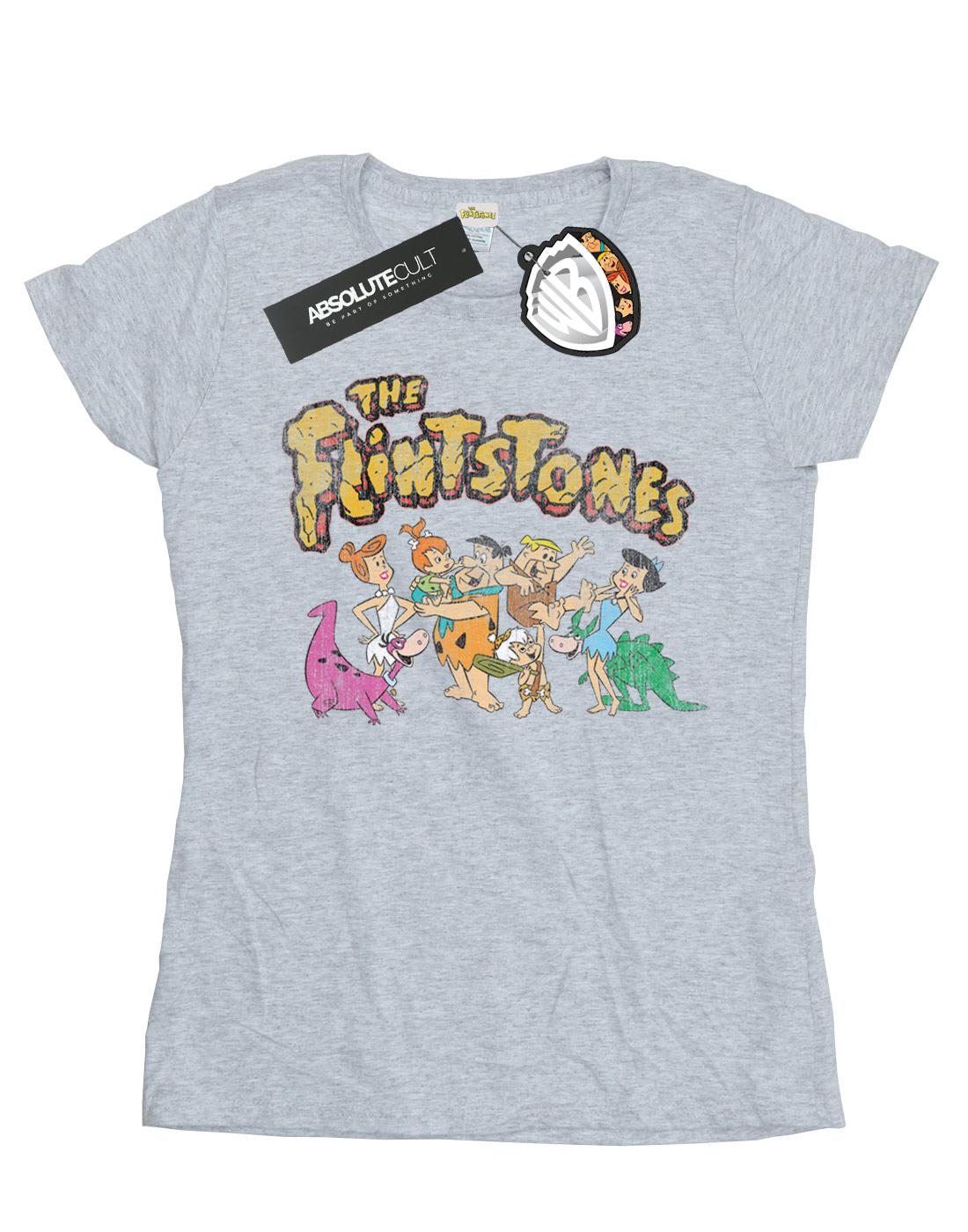 The-Flintstones-Women-039-s-Group-Distressed-T-Shirt thumbnail 12