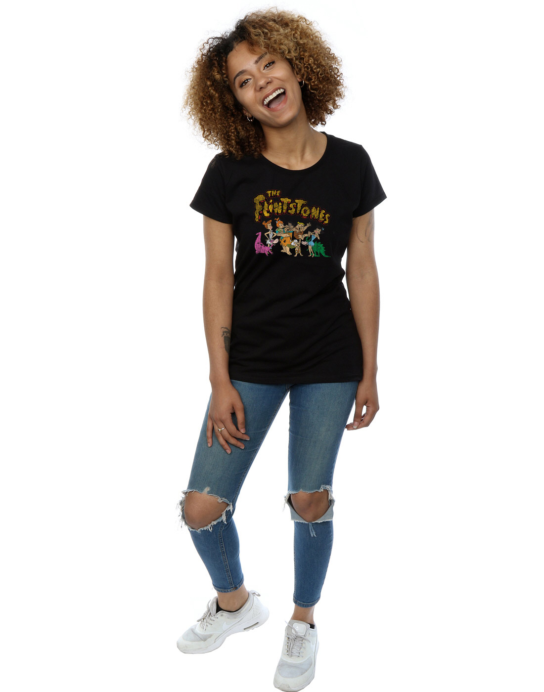 The-Flintstones-Women-039-s-Group-Distressed-T-Shirt thumbnail 10