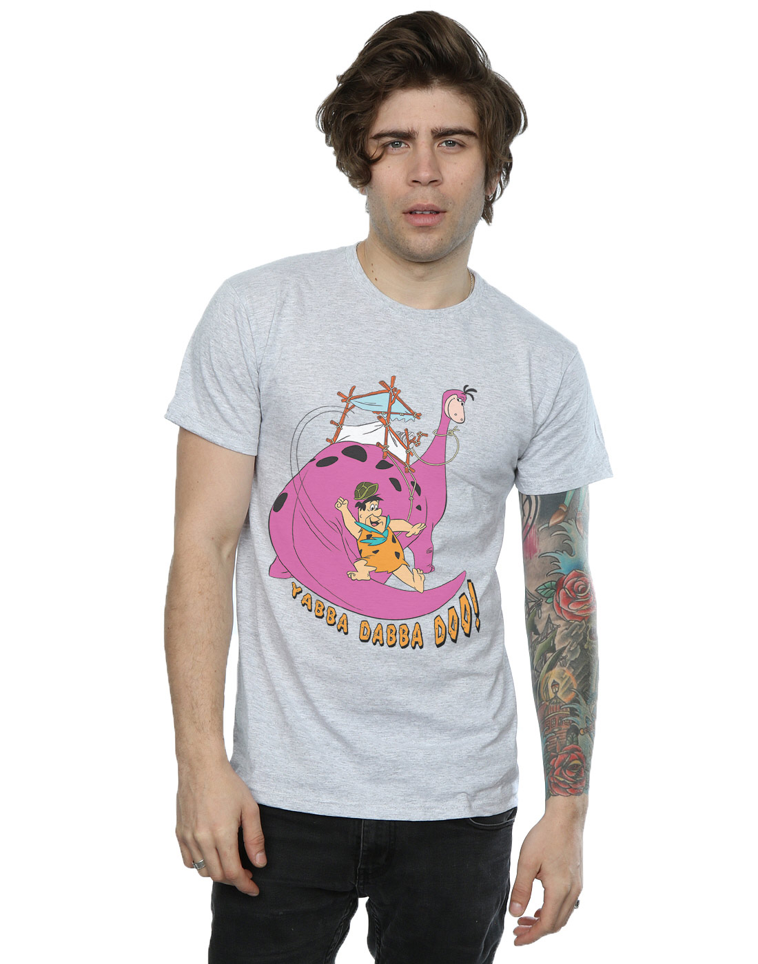 The-Flintstones-Homme-Yabba-Dabba-Doo-T-Shirt