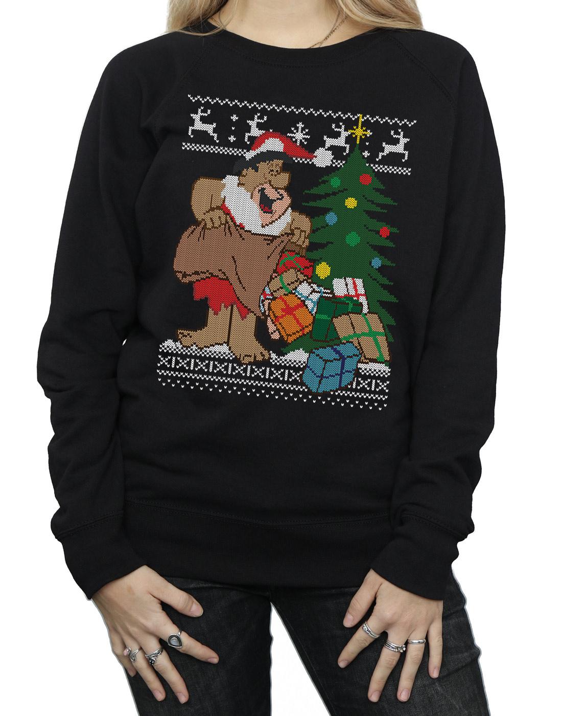 The The The Flintstones Damen Christmas Fair Isle Sweatshirt   Auf Verkauf    Verkaufspreis    Export    Zahlreiche In Vielfalt    Online Store  a8007b