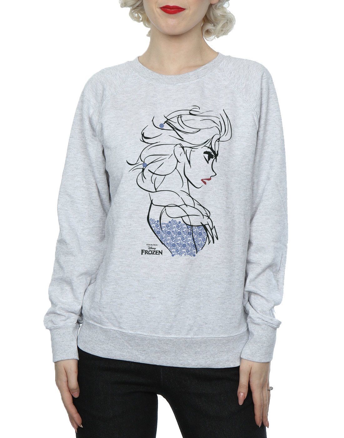Disney-mujer-Frozen-Elsa-Sketch-Camisa-de-entrenamiento