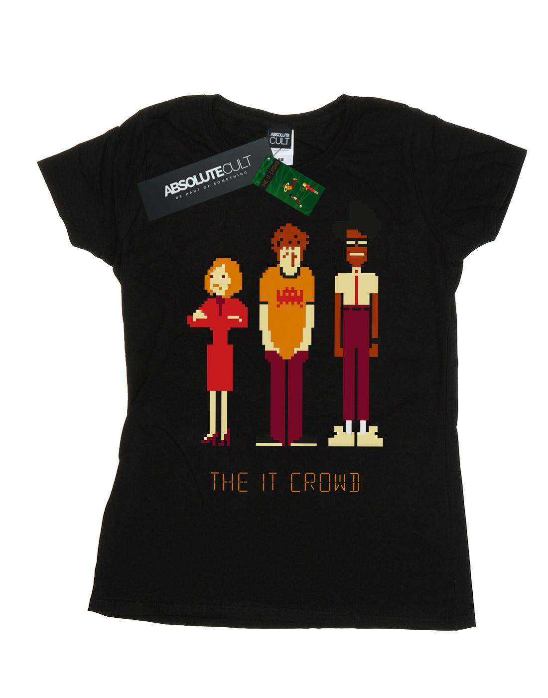 The-IT-Crowd-Women-039-s-Pixel-Crew-T-Shirt thumbnail 5