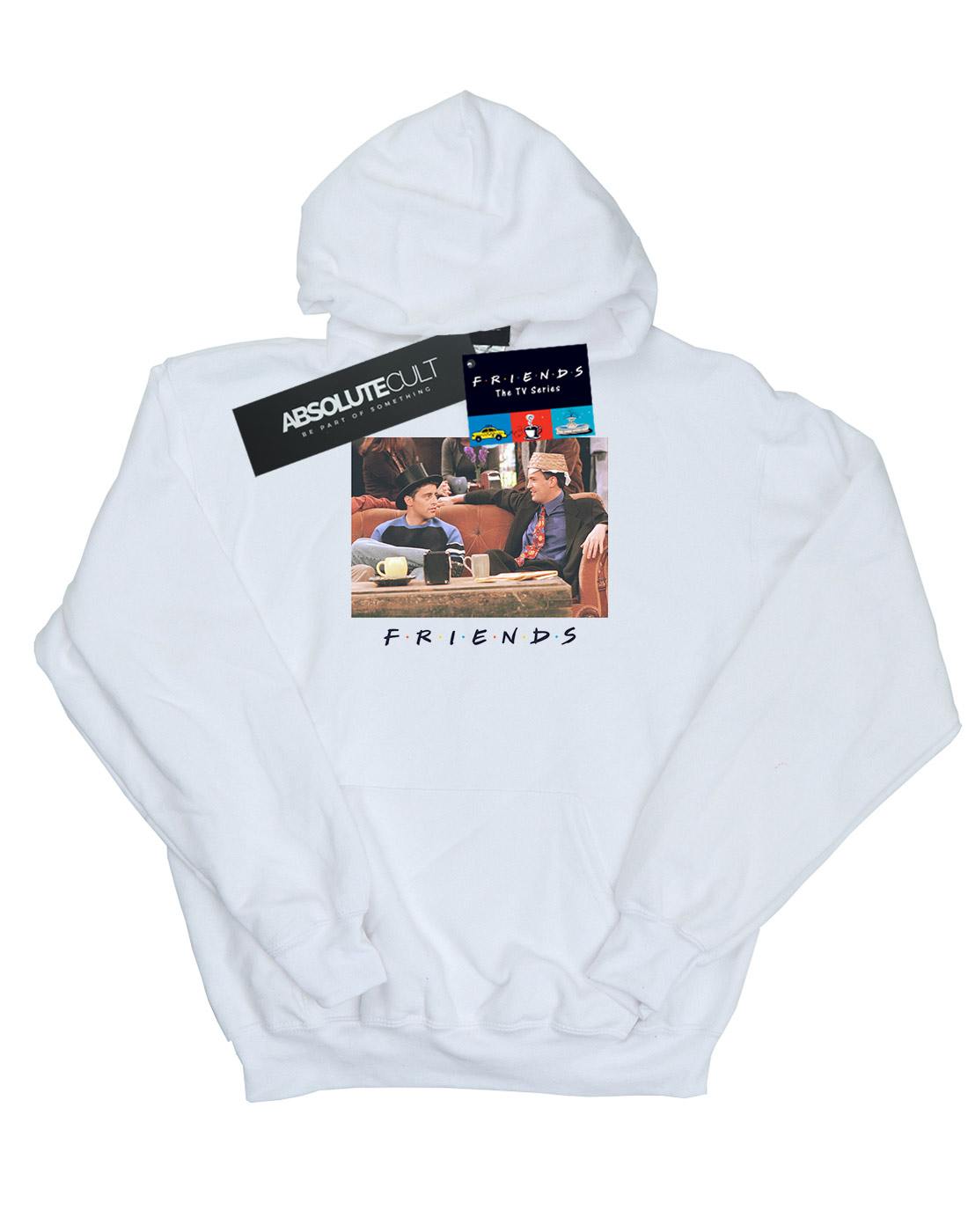 Absolute Cult Friends Girls Joey and Chandler Hats Hoodie