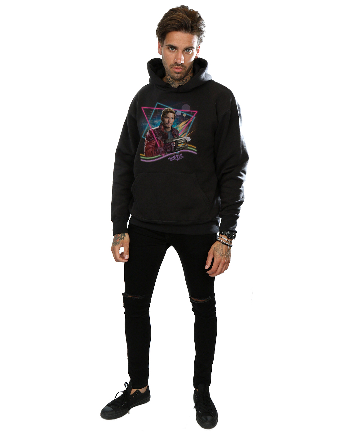 Galaxy Lord The Marvel Homme Of Guardians Capuche Star Neon Sweat 0Z1ZIq4nxT
