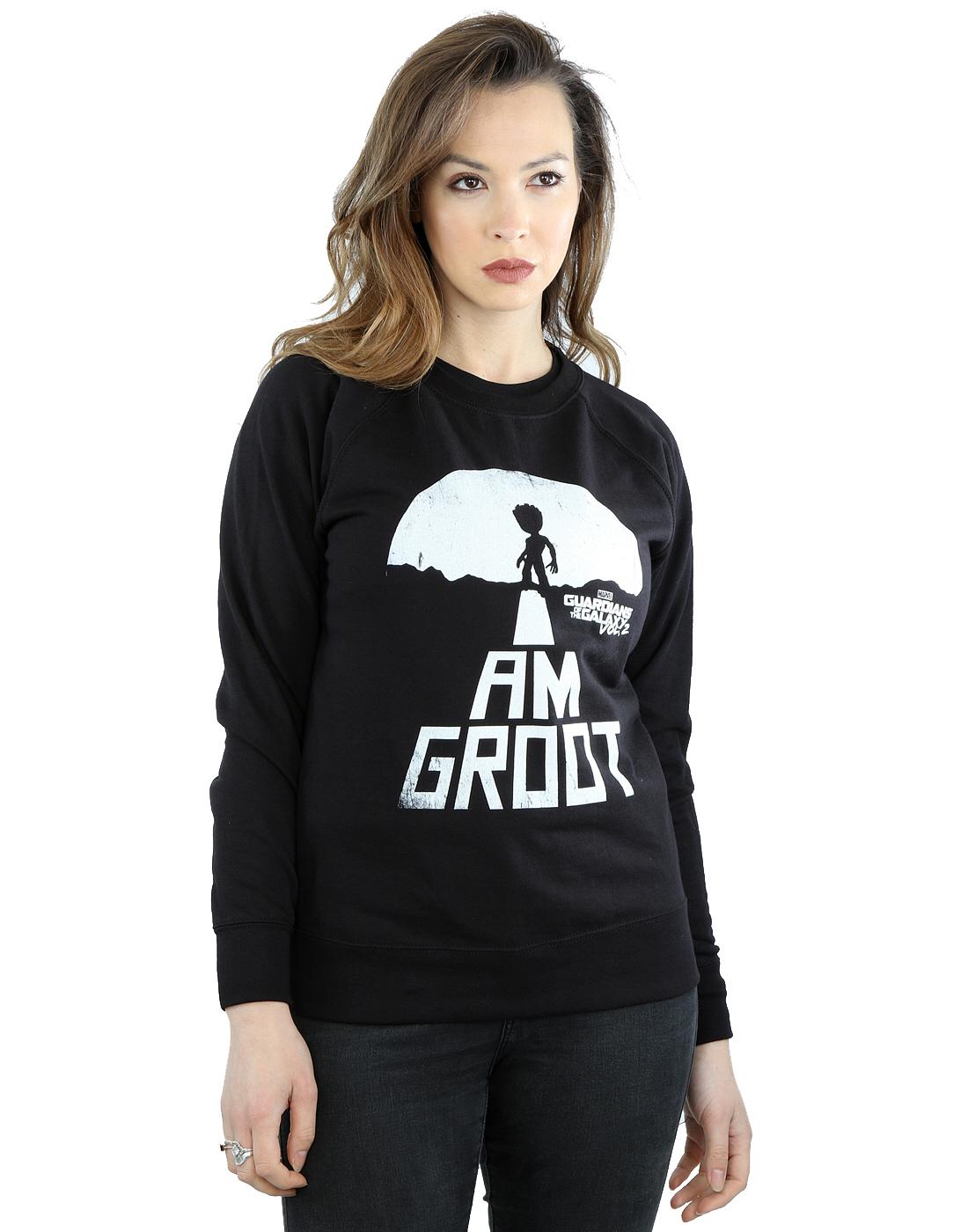 Marvel Damen Guardians of the Galaxy I Am Am Am Groot Weiß Sweatshirt | Charakteristisch  | Schnelle Lieferung  | Exquisite Handwerkskunst  | Fierce Kaufen  | Berühmter Laden  334416