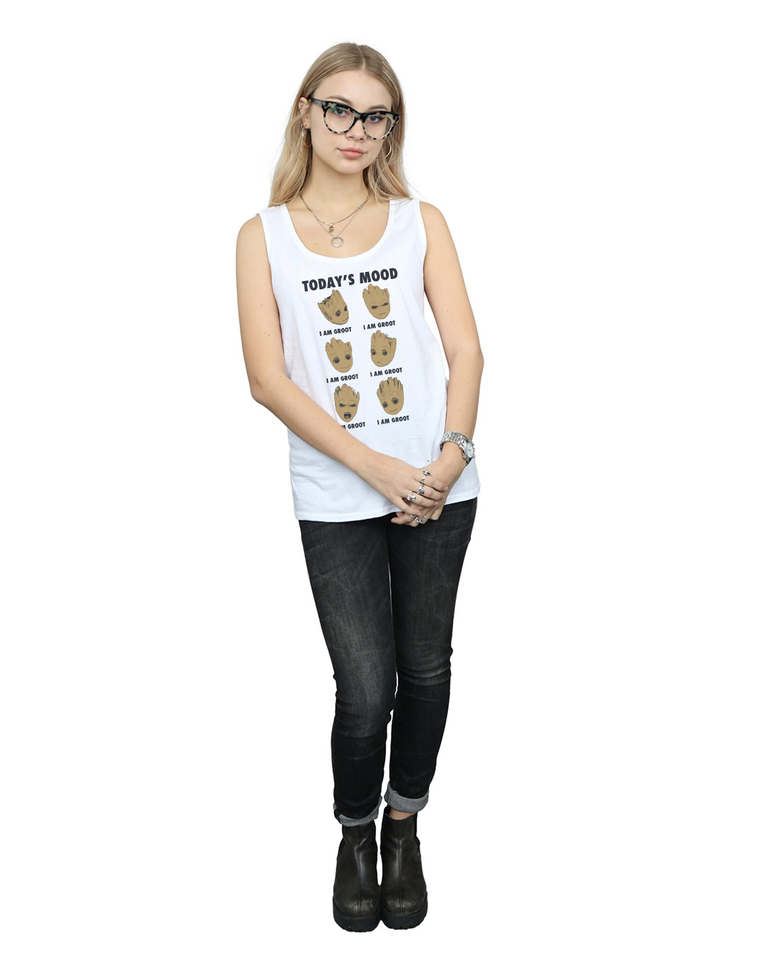 Marvel-Women-039-s-Guardians-of-the-Galaxy-Groot-Today-039-s-Mood-Tank-Top thumbnail 20